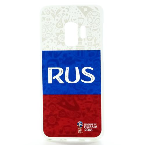Накладка пластиковая Deppa FIFA Samsung Galaxy S9 Flag Russia