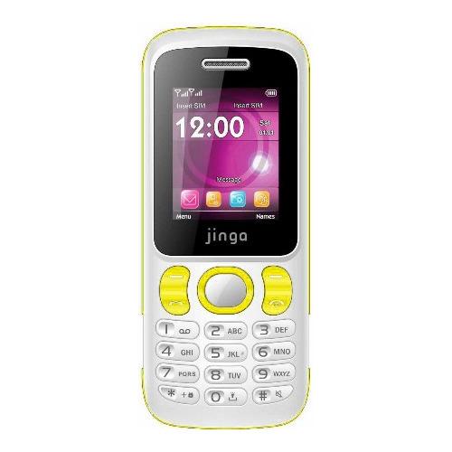 Телефон Jinga Simple F115 White Yellow