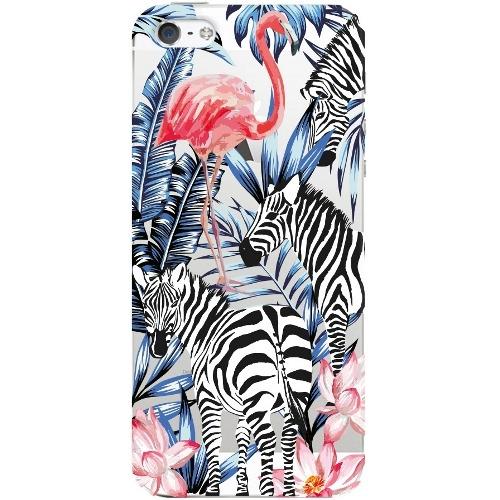 Накладка пластиковая Deppa Art Case iPhone 5/5S Jungle Зебры