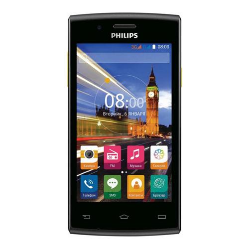 Телефон Philips S307 Black Yellow