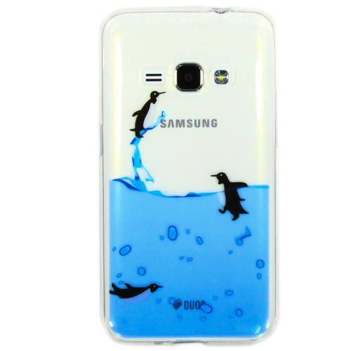 Накладка силиконовая Goodcase Samsung J1 (2016) Пингвины