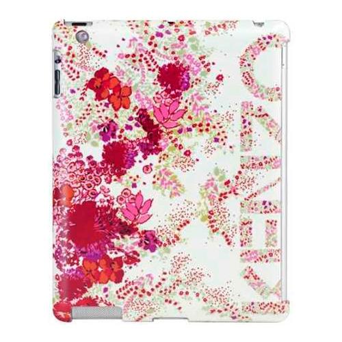 Накладка пластиковая Kenzo iPad 2/3/4 Chiara + защитная плёнка белая