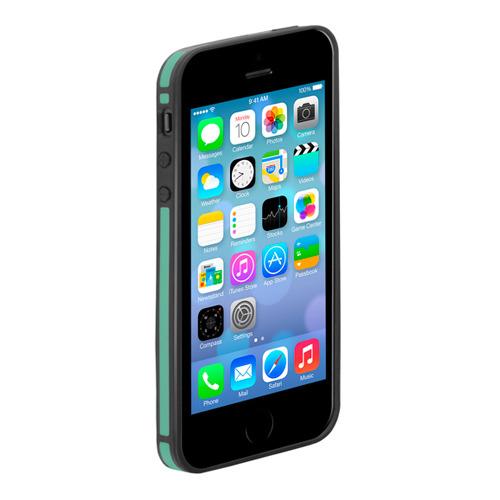 Бампер Deppa Slim для iPhone 5/5S/SE Black/Green