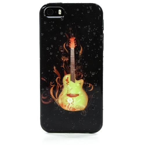 Накладка силиконовая iPhone 5/5S Огненная Гитара (SDST)