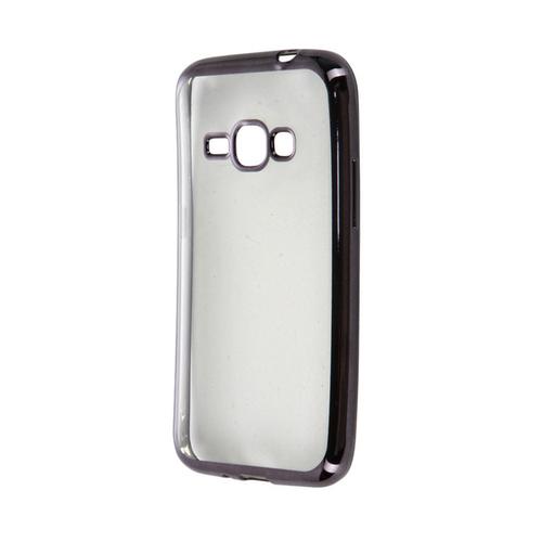 Накладка пластиковая Acqua Moonray Samsung Galaxy J1 (2016) кант темный металик