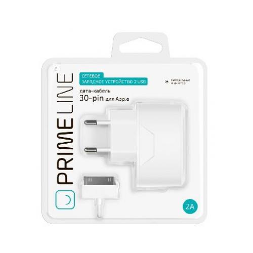 Сетевое зарядное устройство Deppa Prime Line Apple 30-pin 2100mAh White фото