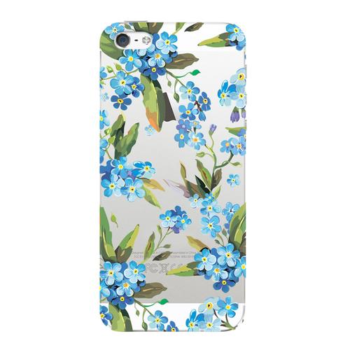 Накладка пластиковая Deppa Art Case iPhone 5/5S Flowers Незабудка