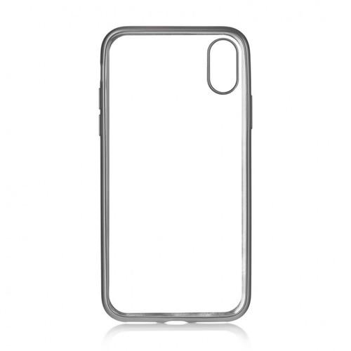 Накладка силиконовая uBear Frame Tone Case iPhone X Silver