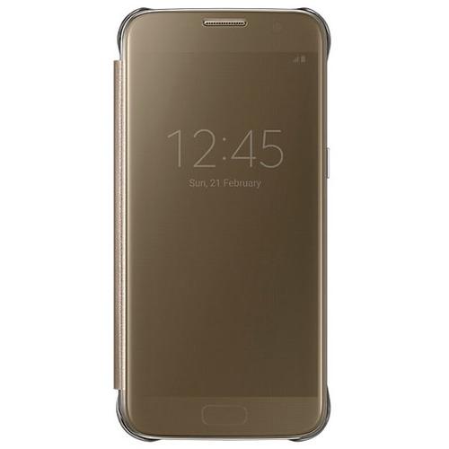 Чехол-книжка Samsung Clear View Standing Cover Galaxy S7 (EF-ZG930CFEGRU) Gold