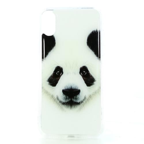 Накладка силиконовая IceTwice iPhone X Панда ч/б №1174