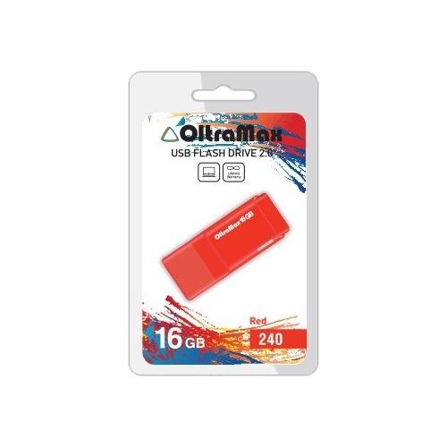 USB флешка OltraMax 240 (16Gb) Red
