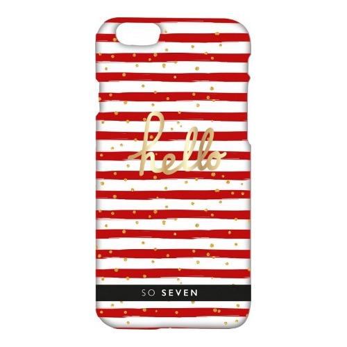 Накладка пластиковая So Seven iPhone 7 / iPhone 8 Bord de Mer White/Red