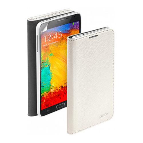 Чехол-книжка для Samsung N9000 Galaxy Note 3 Wallet Cover и защитная пленка, Deppa, белый