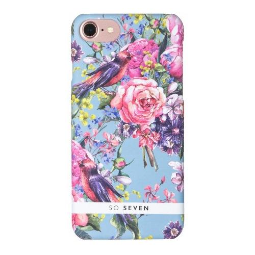 Накладка пластиковая So Seven iPhone 7 / iPhone 8 Summer Chic Oiseaux et Rayures