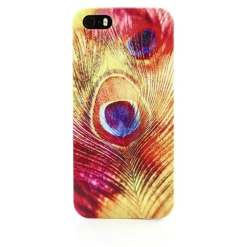 Накладка пластиковая QRCase iPhone 5/5S Перо павлина N176W