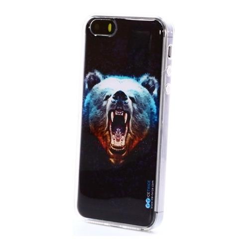 Накладка силиконовая IceTwice iPhone 5/5S Медведь №1024