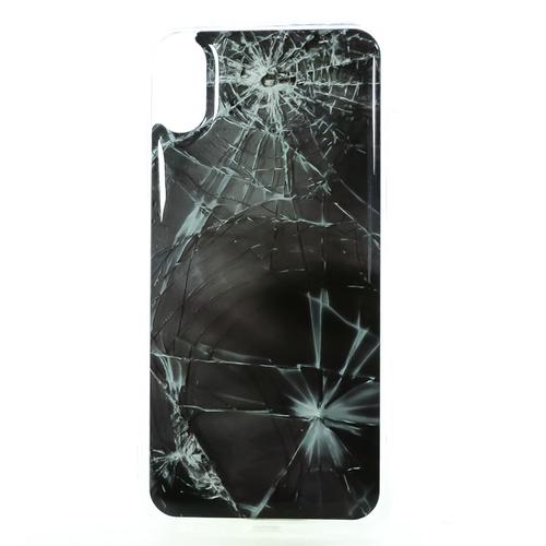 Накладка силиконовая IceTwice iPhone X Стекло битое №1185