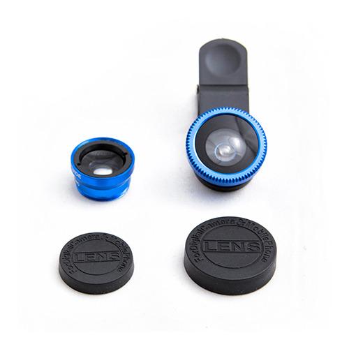 Объектив для телефона FishEye-01 + Macro 180` Blue фото 3