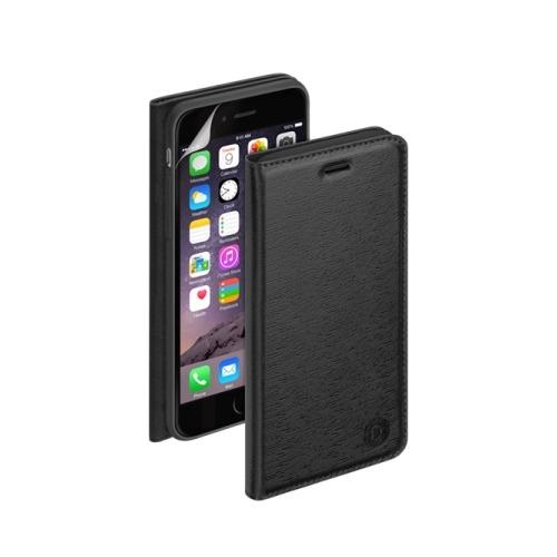 Чехол - книжка для iPhone 6 Plus PU Wallet Cover и защитная пленка, Deppa, черный
