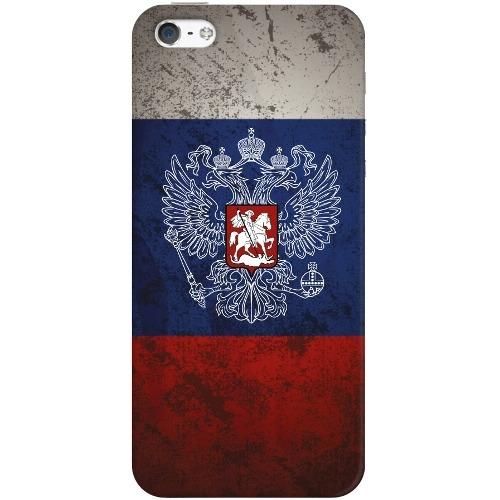 Накладка пластиковая Deppa Art Case iPhone 5/5S Патриот Флаг