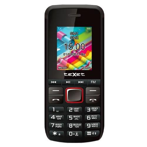 Телефон Texet TM-203 Black Red