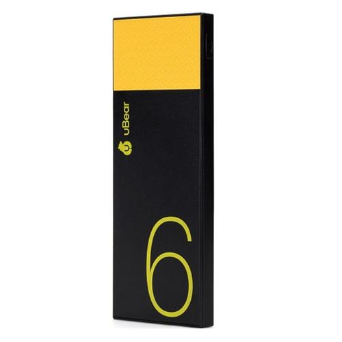 Внешний аккумулятор uBear PB05 Light 6000 mAh Black Yellow