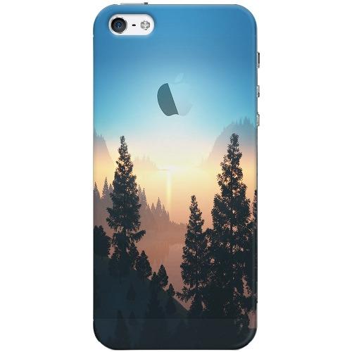 Накладка пластиковая Deppa Art Case iPhone 5/5S Nature Озеро