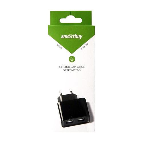 Сетевое зарядное устройство Smartbuy на 2 USB 3A SPB-6000