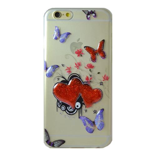 Накладка силиконовая iPhone 5/5S Butterfly (DJ)