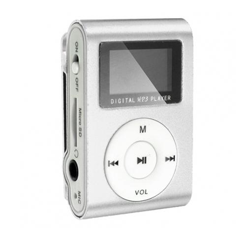 Плеер Mp3 Perfeo Music Clip Titanium Display VI-M001-Display Silver