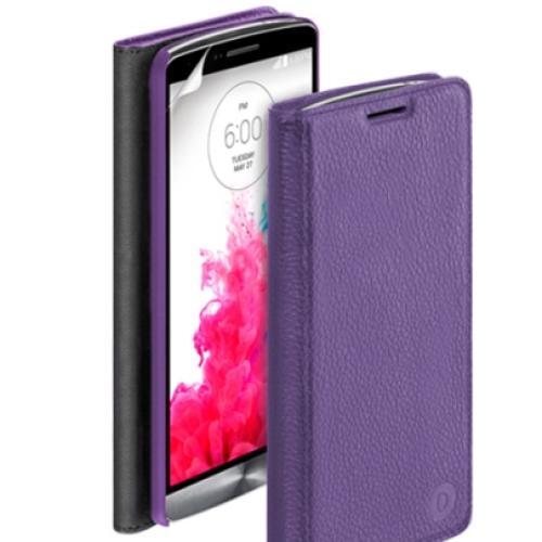 Чехол - книжка для LG G3 Deppa Wallet Cover фиолетовая и защитная пленка LG G3
