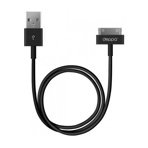 USB кабель Deppa  Apple 30-pin 1.2м Black фото