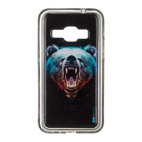 Накладка силиконовая IceTwice Samsung Galaxy J1 (2016) Медведь №1024