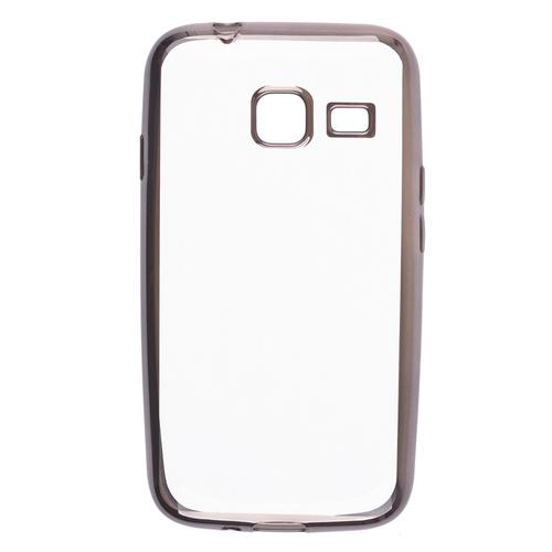 Накладка силиконовая skinBox chrome border Samsung Galaxy J1 mini (2016) Dark Silver