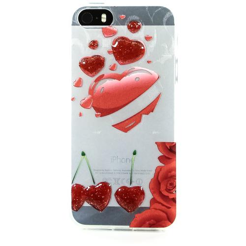 Накладка силиконовая iPhone 5/5S Cherry (DJ)