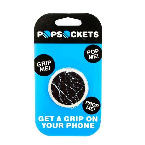 Держатель Goodcom для смартфонов PopSocket Черный Мрамор