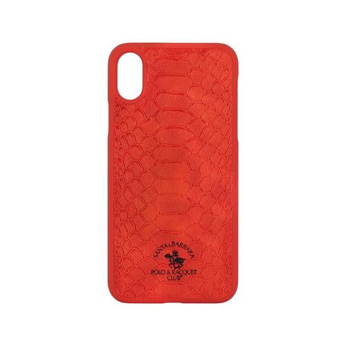 Накладка кожаная Polo Knight для iPhone X Red