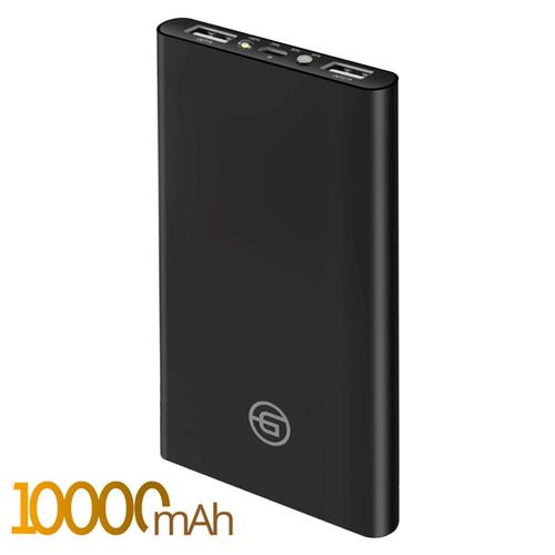 Внешний аккумулятор Ginzzu GB-3910B 10000 mAh 2.4A/5V/2USB Black