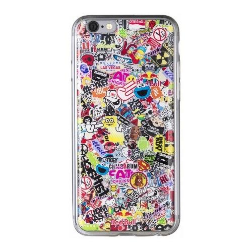Накладка силиконовая IceTwice iPhone 6/6S StickerBomb №524