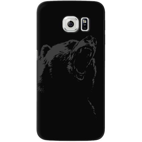 Накладка пластиковая Deppa Art Case Samsung Galaxy S7 Edge Black Медведь