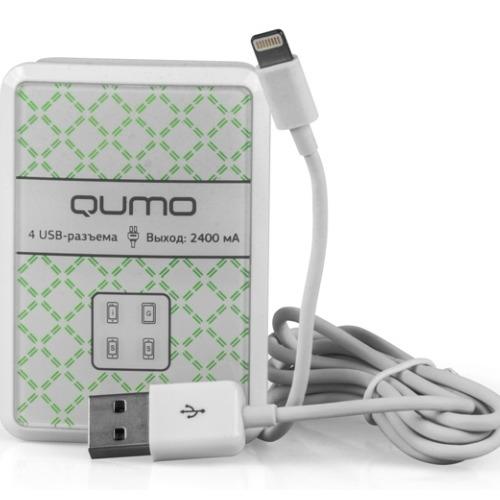 СЗУ Qumo 4USB 4A(2A+2A) White