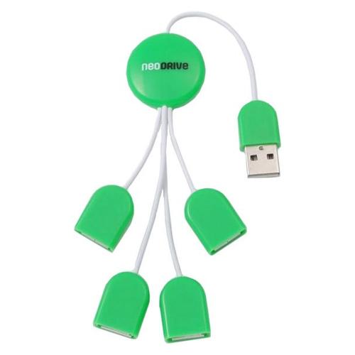 USB HUB Neodrive Qarta NDH 621O 4 ports USB Green