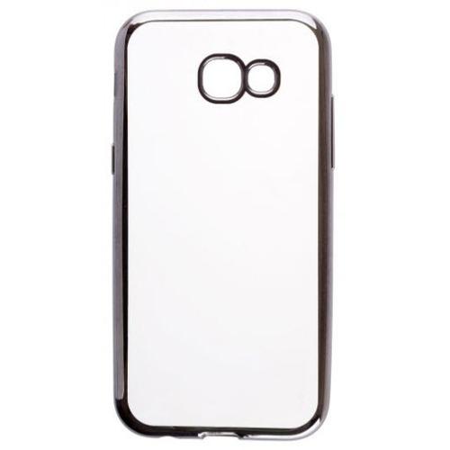 Накладка силиконовая skinBox chrome Samsung Galaxy A5 (2017) Dark Silver
