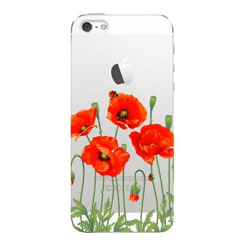 Накладка пластиковая Deppa Art Case iPhone 5/5S/SE Flowers Мак