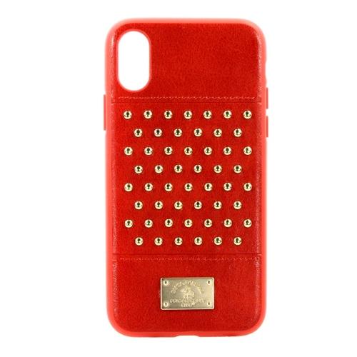 Накладка кожаная Staccato для iPhone X Red