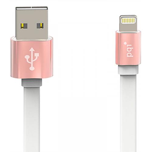 USB кабель PQI i-Cable Metallic 100 MFI Apple 8-pin 1м Rose Gold фото