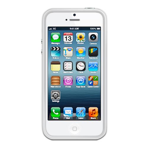 Бампер Muvit iPhone 5/5S Belt + защитная плёнка White