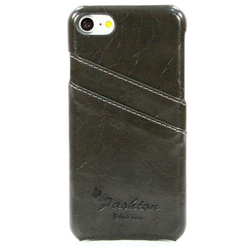 Накладка кожаная Goodcase iPhone 7 Plus с держателем для карт Black