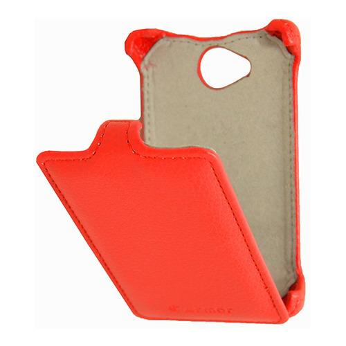 Красный чехол-флип для Nokia 503, Armor