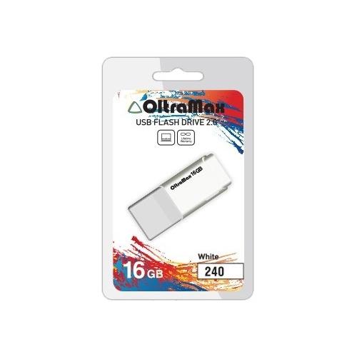 USB флешка OltraMax 240 (16Gb) White